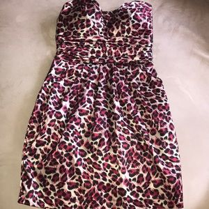 Pink & Black strapless size S by Charlotte Russe